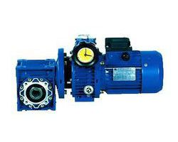 Aluminum alloy shell stepless worm gear series reducer