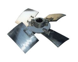 Four-blade propeller agitator