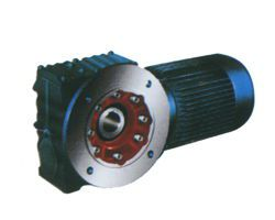 S series helical gear-worm gear motor