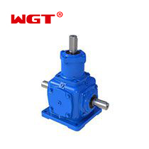 T Series Right Angle Spiral Bevel 2 Extended Shaft Reduction Speed Reducer T2-25