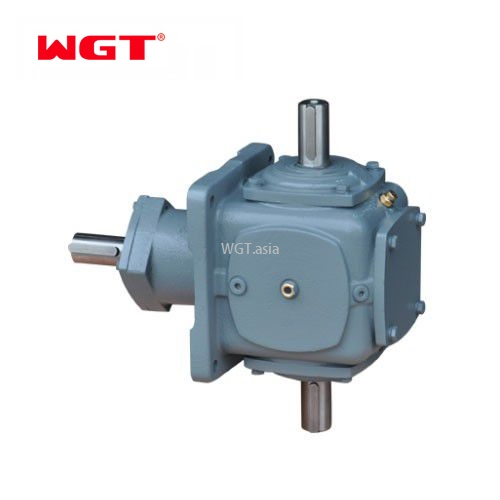 T series 3 way bevel spiral gearbox for packing machine- T2-25