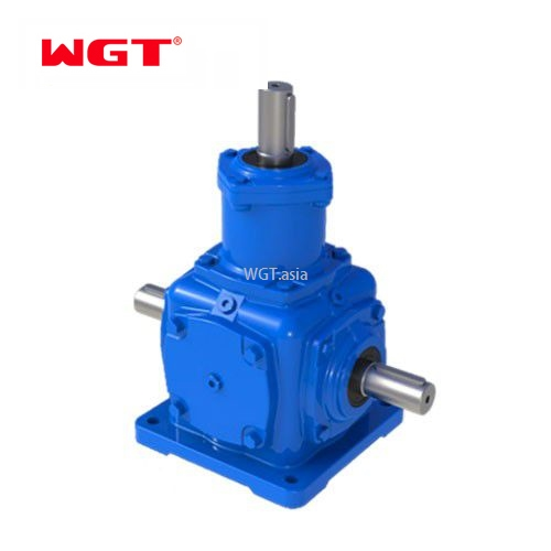 T series 3 way bevel spiral gearbox for packing machine- T2-T25
