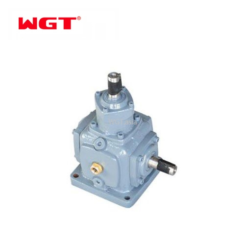 T series spiral bevel units 3 way bevel small miter gearbox T2-T25