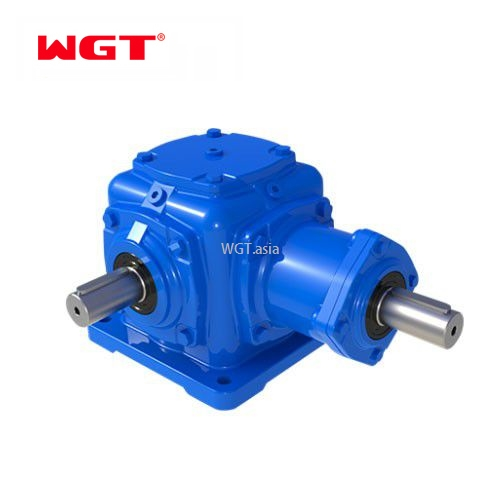 T shape Spiral Bevel Gear Units ratio 5-1 gearbox for play machine T2-T25